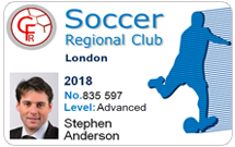 Club membership cards - Soccer