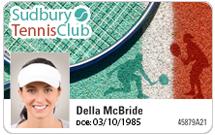 Club membership cards - Tennis