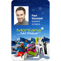 Plastic ID Ski Passes