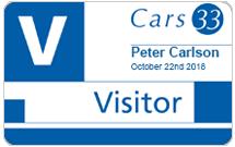 Visitor badge