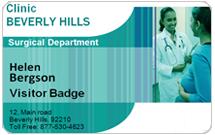 Hospital Visitor card
